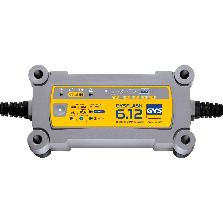 Chargeur de batterie GYS Gysflash 6.12, 12 V   Leroy Merlin