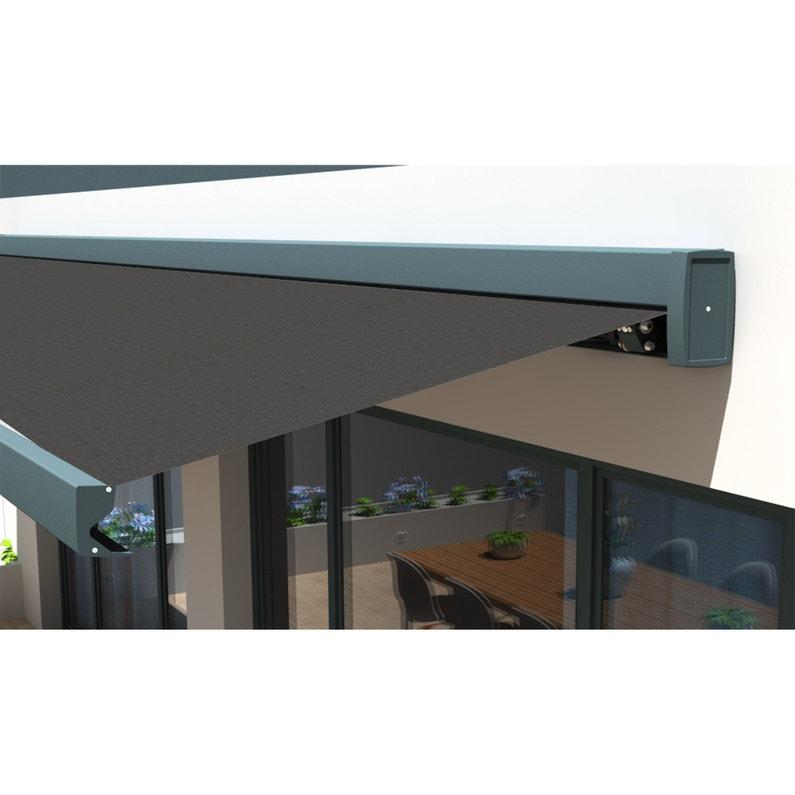 Store Banne Motorisé 6 X 4 M Gris Graphite Loft Xxl Toile Acrylique