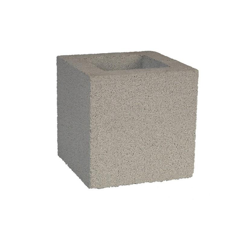 Element De Pilier Béton Décoratif H20 X L20 X P20 Cm