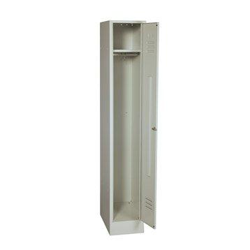 armoire vestiaire m tal simple jds l32xh180xp49cm. Black Bedroom Furniture Sets. Home Design Ideas