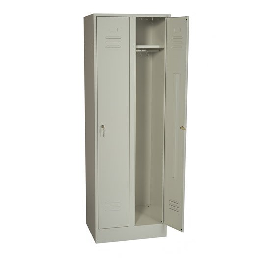 armoire vestiaire en m tal double jds 180x60x49cm leroy merlin. Black Bedroom Furniture Sets. Home Design Ideas