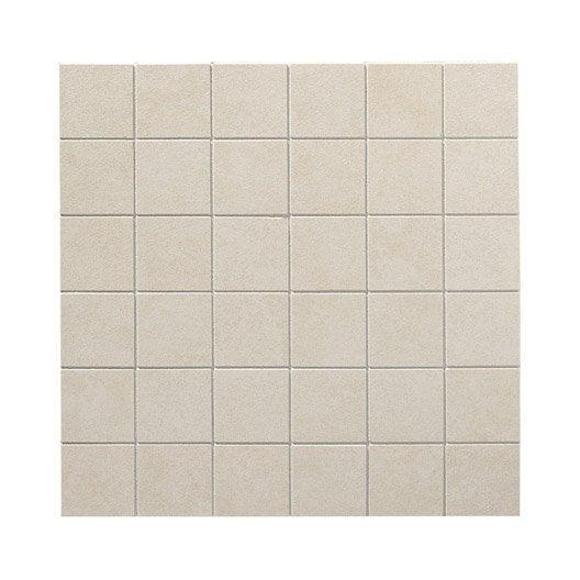 Plaque en gr s c rame maill teint artens focus 5x5 for Carrelage 5x5 blanc