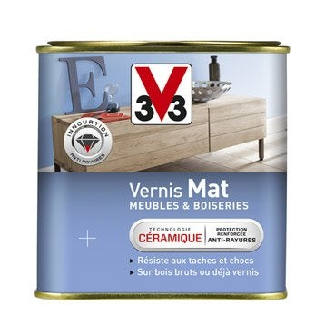 Vernis pour meuble et objet finition meuble et objet leroy merlin for Peindre sur bois vernis