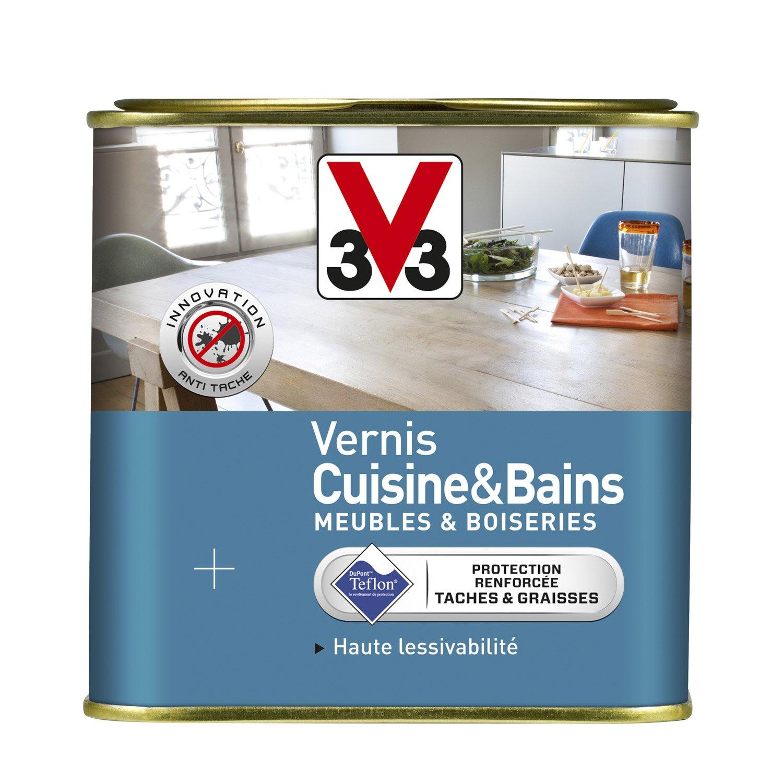 Salle De Bain Parement Pierre ~ Vernis Cuisine Et Bain V33 0 75 L Incolore Leroy Merlin