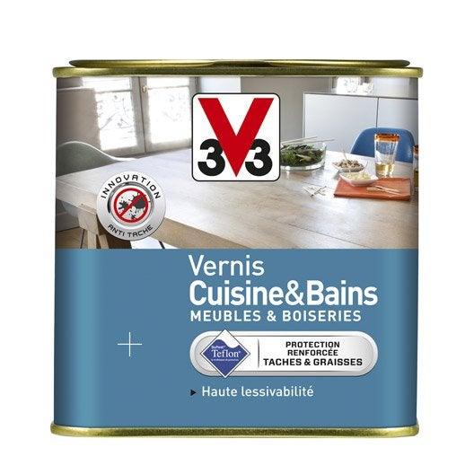 Vernis cuisine et bain v33 l incolore leroy merlin - Vernis relooking v33 ...