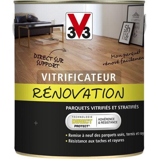 vitrificateur parquet de r novation v33 2 5 l incolore leroy merlin. Black Bedroom Furniture Sets. Home Design Ideas
