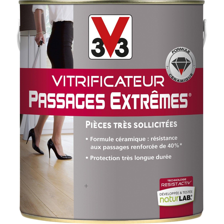 vitrificateur parquet passages extr mes v33 2 5 l incolore leroy merlin. Black Bedroom Furniture Sets. Home Design Ideas
