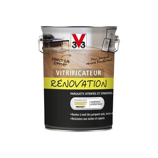 vitrificateur parquet de r novation v33 5 l incolore leroy merlin. Black Bedroom Furniture Sets. Home Design Ideas