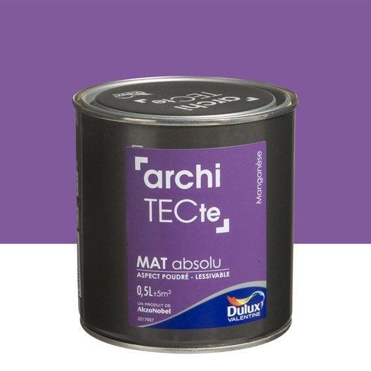 Peinture violet mangan se dulux valentine architecte 0 5 l leroy merlin for Peinture couleur zinc