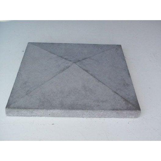 Couvre pilastre gris 50 x 50 cm leroy merlin - Couvre mur beton leroy merlin ...