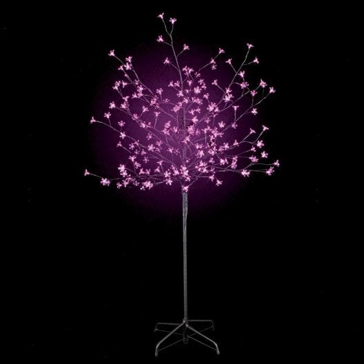 Arbre lumineux ext rieur prunus rose leroy merlin - Arbre decoratif exterieur ...