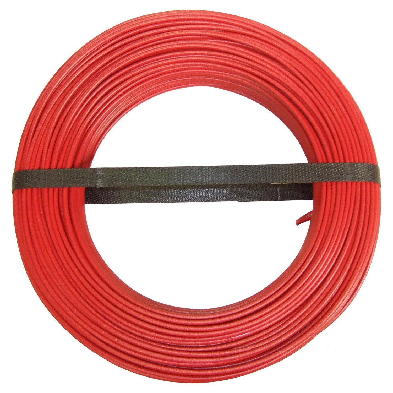 Fil électrique H07vu Rouge 1 5 Mm L 100 M Leroy Merlin