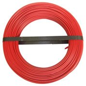 Fil électrique h07vu rouge, 1.5 mm² L.100 m