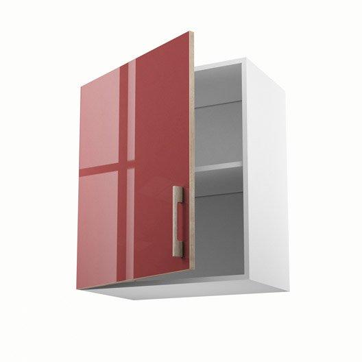Meuble de cuisine haut rouge 1 porte grenade x x for Porte cuisine 30 x 60