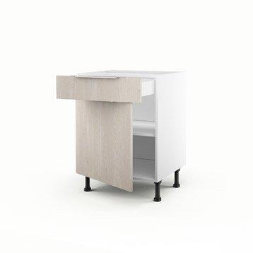 Meuble de cuisine d cor bois delinia nordik leroy merlin for Porte cuisine 60 x 30