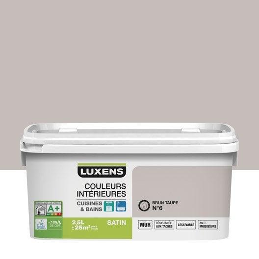 Peinture Couleurs Intérieures Luxens, Brun Taupe 6, 2.5 L | Leroy