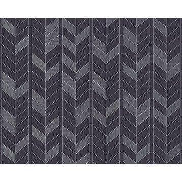 Papier peint tapisserie papier peint intiss et vinyle leroy merlin for Papier peint geometrique triangles noir et blanc gris