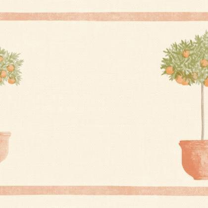 Papier Peint Frise Pots Orange Intisse Bon Appetit Leroy Merlin