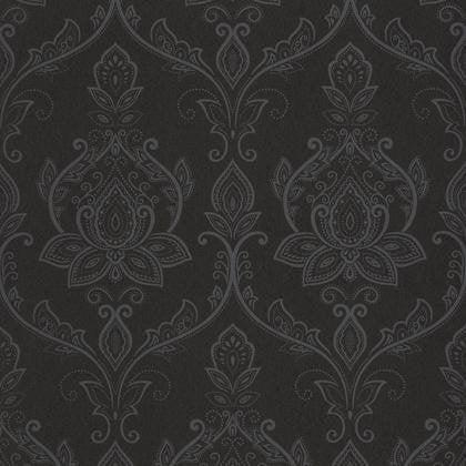 Papier Peint Sari Noir Irise Intisse Shades Leroy Merlin
