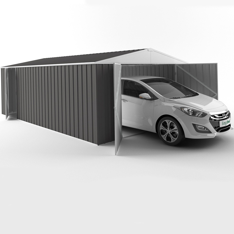 Garage Metal Leroy Merlin ... Garage Métal Easysheed 1 Voiture, 19.24 M²