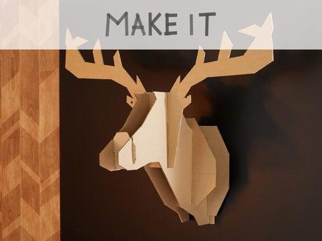 diy fabriquer un troph e t te de cerf leroy merlin. Black Bedroom Furniture Sets. Home Design Ideas