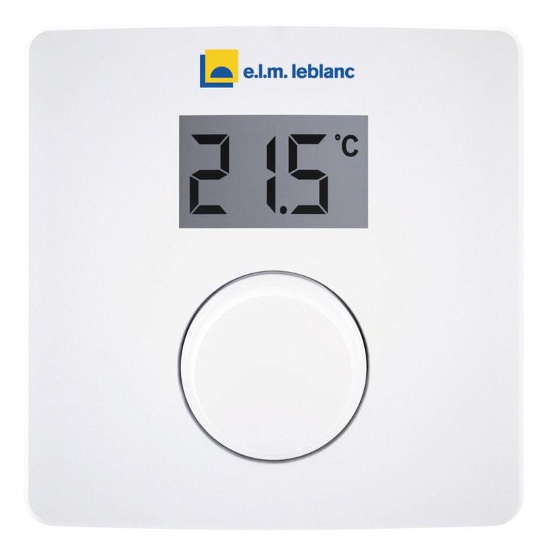 Thermostat électronique Filaire Elm Leblanc Cr10