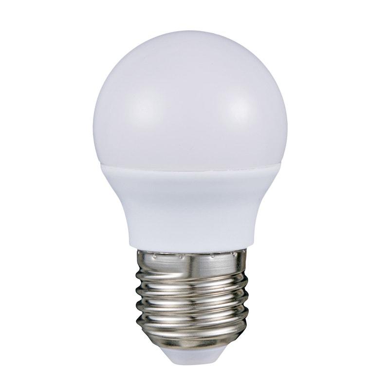 Ampoule Led Opaque Globe 45 Mm E27 470 Lm 40 W Neutre Lexman