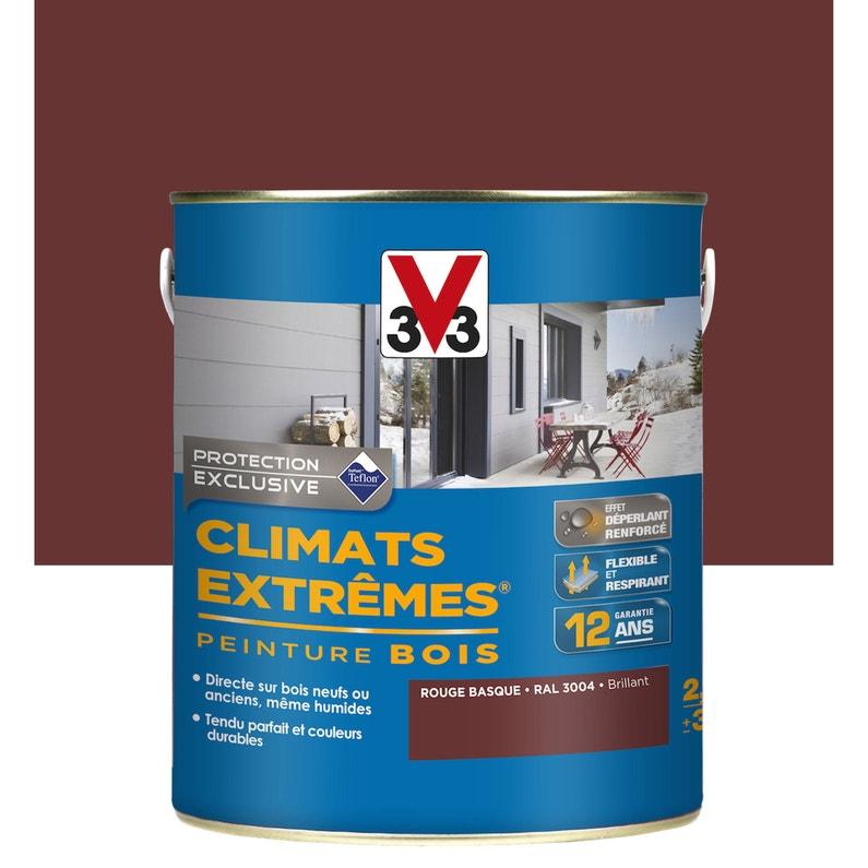 Peinture Bois Extérieur Climats Extrêmes V33 Rouge Basque 2 5 L