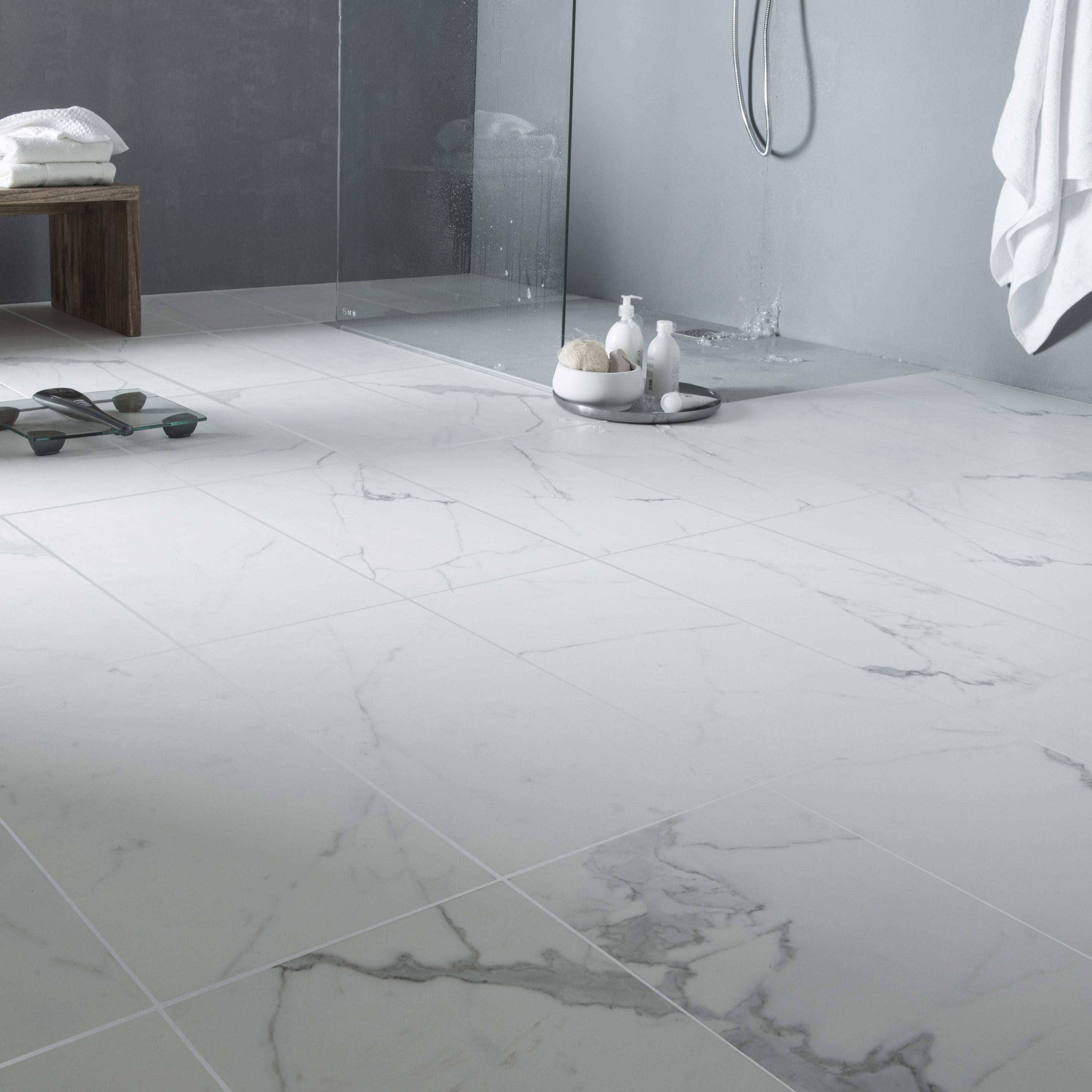 Comment Nettoyer Joint Blanc Carrelage Sol carrelage sol et mur blanc effet marbre rimini l.60 x l.60 cm