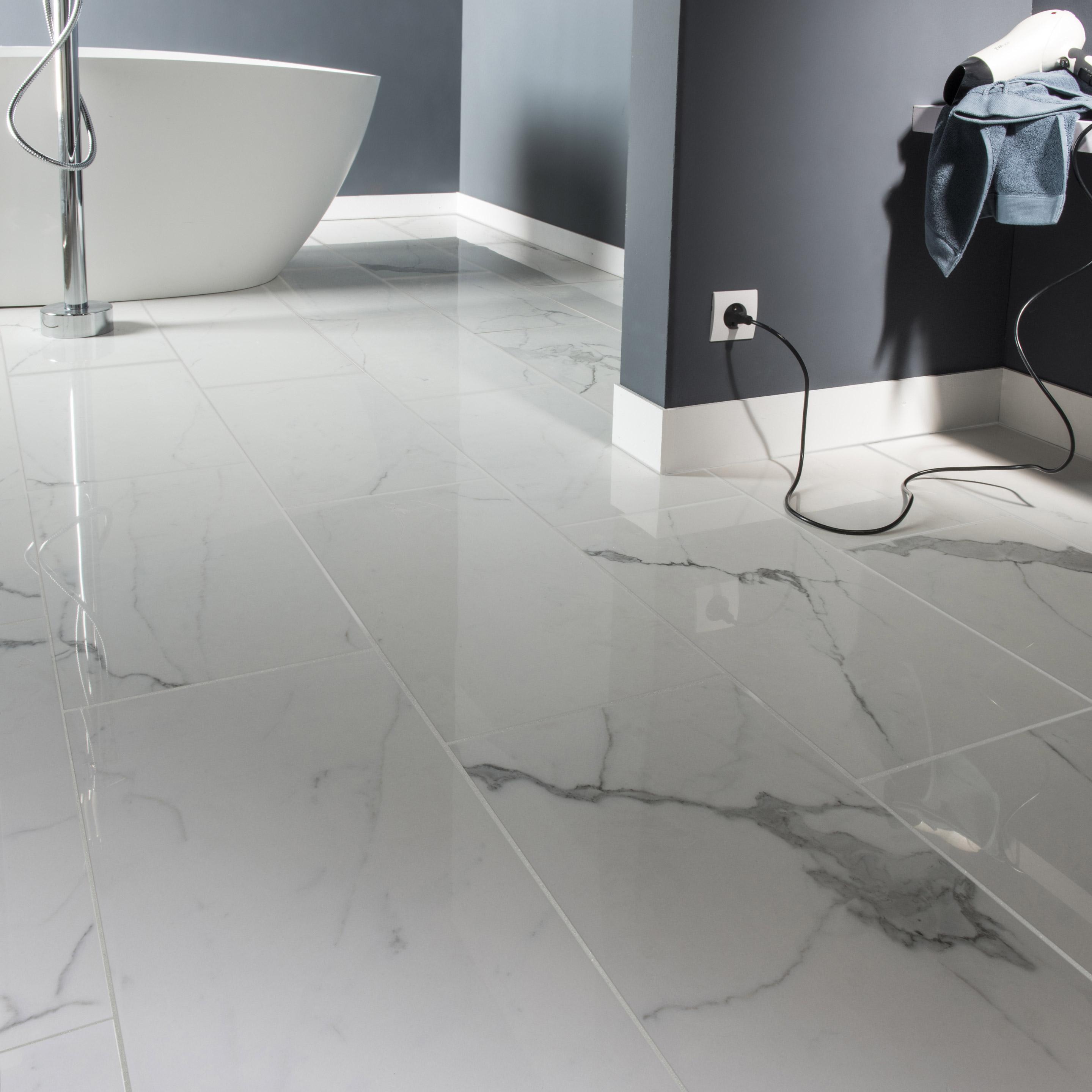 Comment Nettoyer Joint Blanc Carrelage Sol carrelage sol/mur intenso marbre blanc rimini l.30xl.60 cm cerim inspired+39
