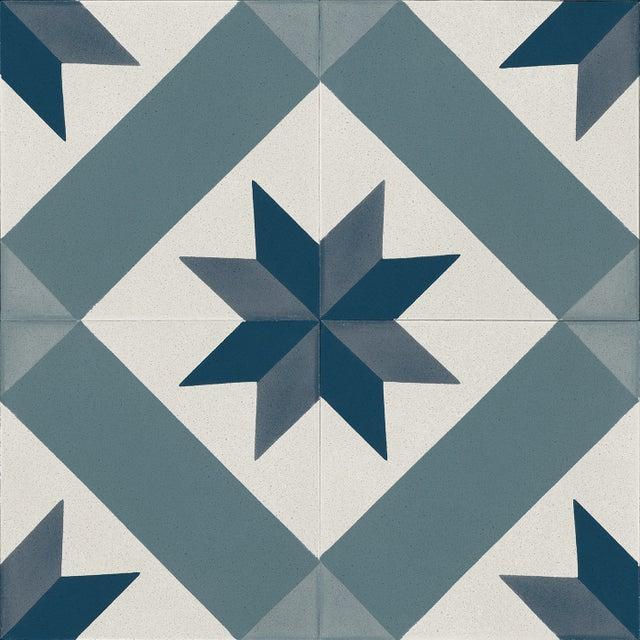 Sol Pvc Gerflor Effet Carreau De Ciment Cordoba Bleu L 4 M Leroy Merlin