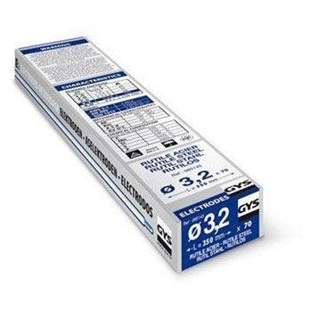 Lot de 70 électrodes rutile diamètre 3.2mm GYS 085145