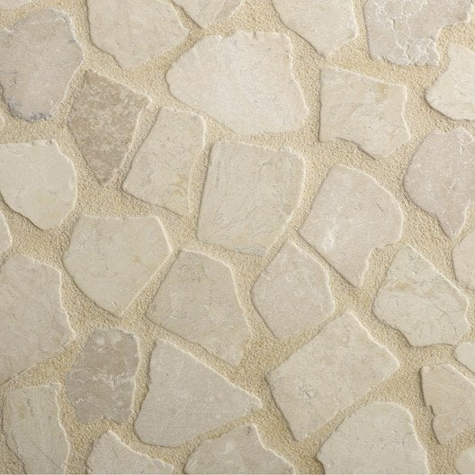Opus antiope en pierre naturelle l 50 x l 50 cm x p 10 mm - Dalle en pierre naturelle ...