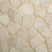 Trame Antiope calcaire, beige, Ep.10 mm x L.50 x l.50 cm