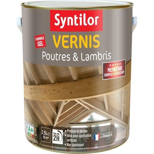 vernis poutre et lambris syntilor brillant incolore 2 5l leroy merlin. Black Bedroom Furniture Sets. Home Design Ideas