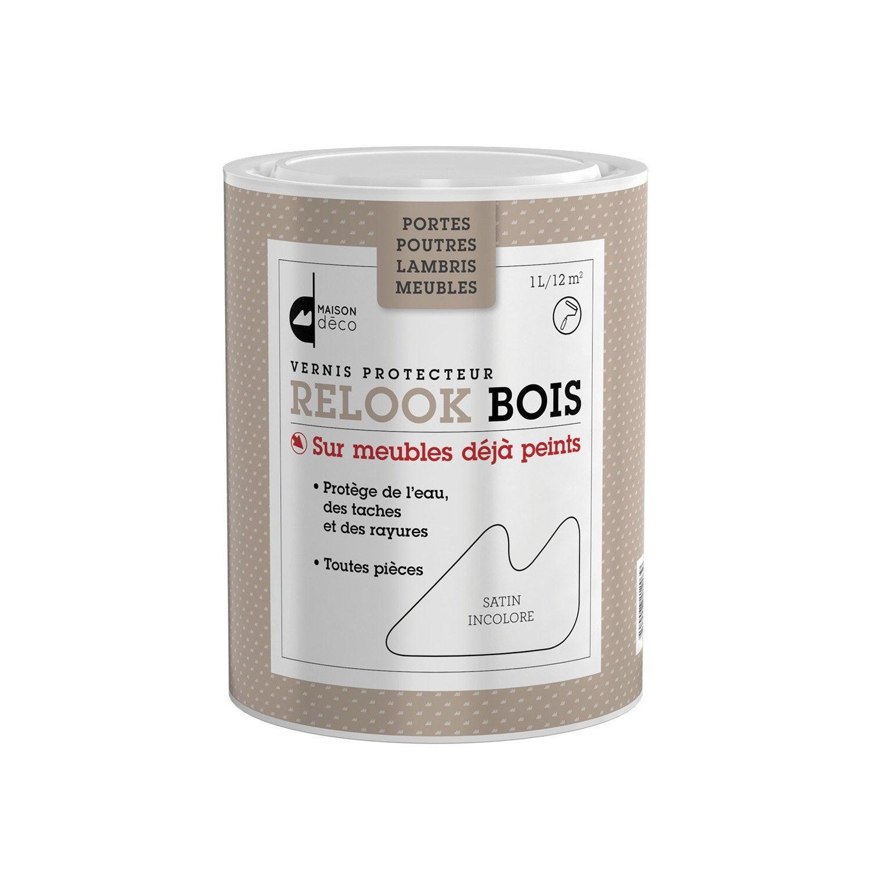Vernis poutre et lambris Relook bois MAISON DECO, 0.75 l, incolore ...