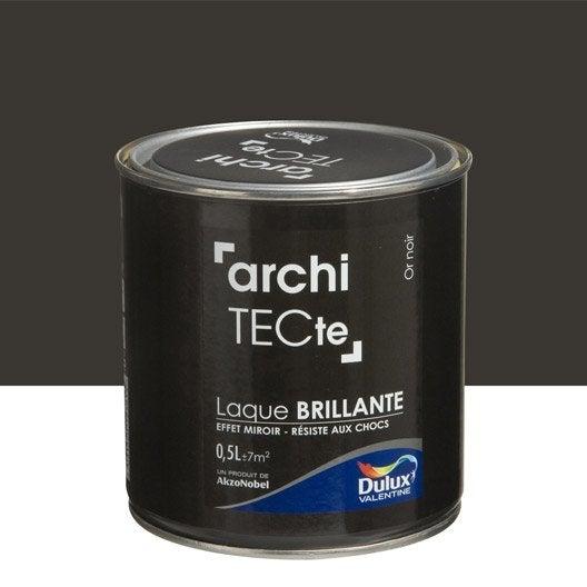 Peinture or noir dulux valentine architecte 0 5 l leroy merlin - Peinture architecte dulux ...