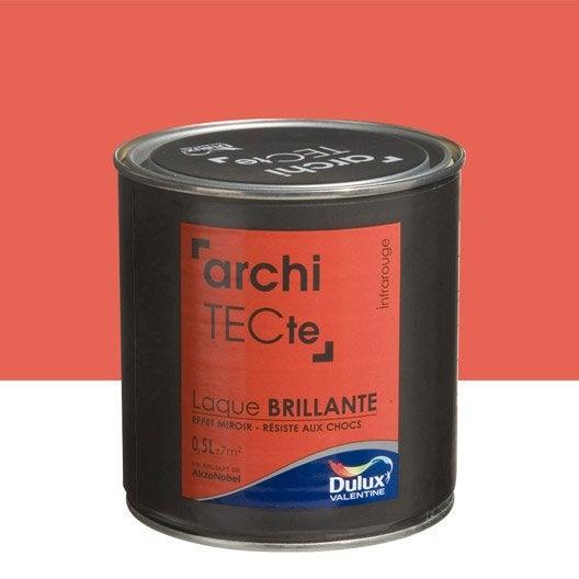 Peinture rouge infrarouge dulux valentine architecte 0 5 l for Peinture effet miroir