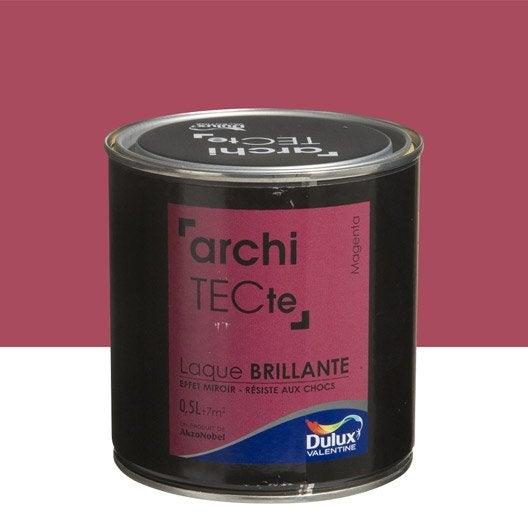 Peinture rose magenta dulux valentine architecte 0 5 l leroy merlin - Dulux valentine architecte ...