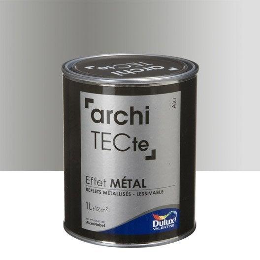 Peinture décorative, Architecte effet métal DULUX VALENTINE, gris