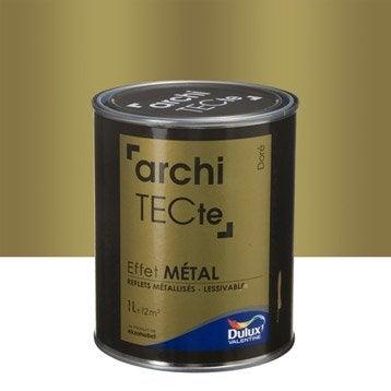 Peinture à effet, Architecte effet métal DULUX VALENTINE, métal doré, 1 l