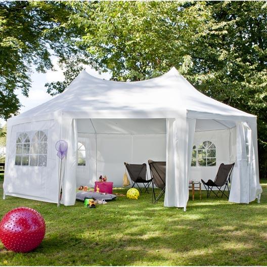 Tente autoportante f ria 20 m for Tente de jardin leroy merlin