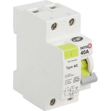Interrupteur différentiel LEXMAN, 30 mA 40 A AC