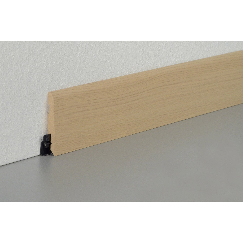 plinthe parquet effet ch ne naturel cm x x mm leroy merlin. Black Bedroom Furniture Sets. Home Design Ideas