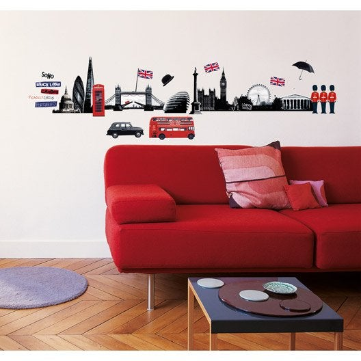 Sticker London skyline 49 cm x 69 cm