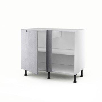 meuble de cuisine d cor b ton delinia berlin leroy merlin. Black Bedroom Furniture Sets. Home Design Ideas