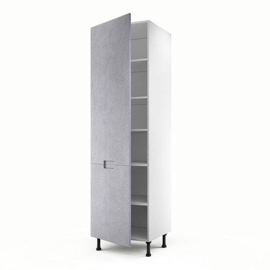 meuble de cuisine colonne d cor b ton 1 porte berlin. Black Bedroom Furniture Sets. Home Design Ideas