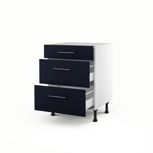 meuble de cuisine bleu delinia topaze leroy merlin. Black Bedroom Furniture Sets. Home Design Ideas