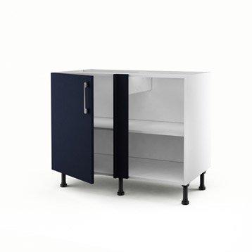 meuble de cuisine bleu delinia topaze leroy merlin. Black Bedroom Furniture Sets. Home Design Ideas