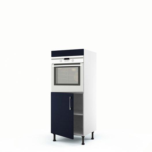 meuble de cuisine demi colonne bleu four 1 porte topaze x x cm leroy merlin. Black Bedroom Furniture Sets. Home Design Ideas